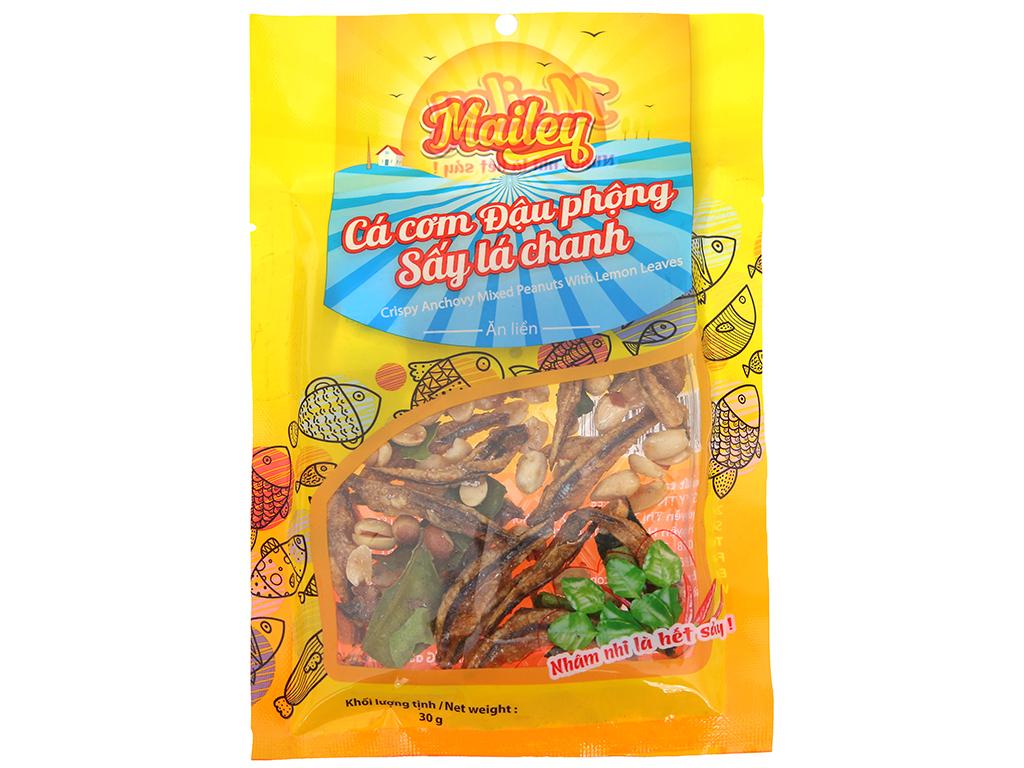 Cá cơm đậu phộng sấy lá chanh ăn liền Mailey gói 30g 1