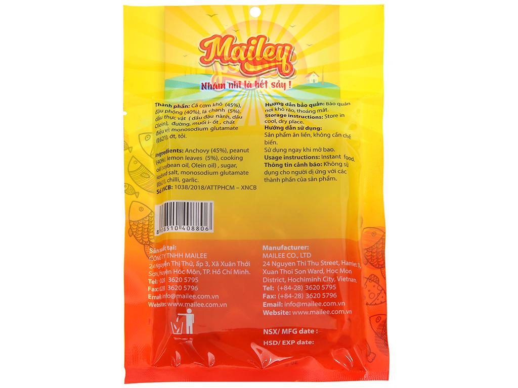 Cá cơm đậu phộng sấy lá chanh ăn liền Mailey gói 30g 2
