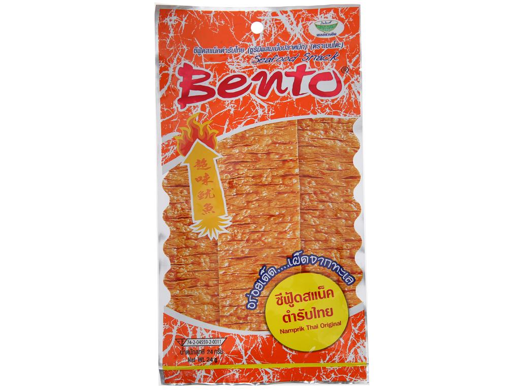 Snack mực tẩm gia vị thái Bento gói 24g 1