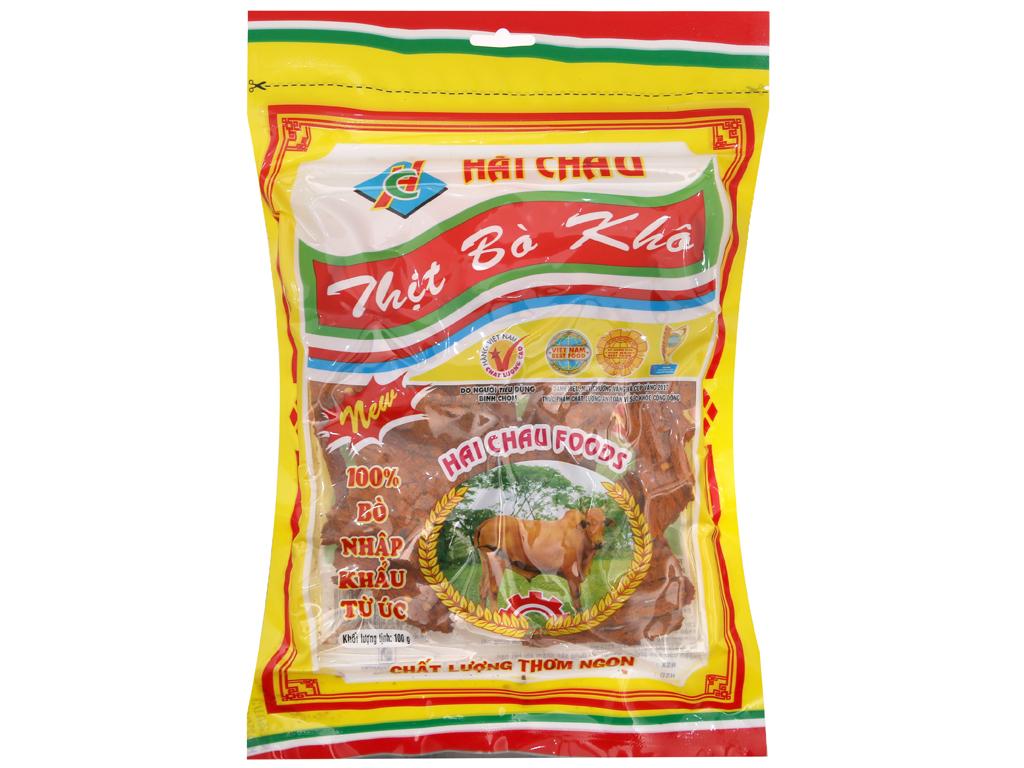 Thịt bò khô Hải Châu gói 100g 1