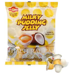 Thạch rau câu pudding hương vị trứng & dừa New Choice gói 240g