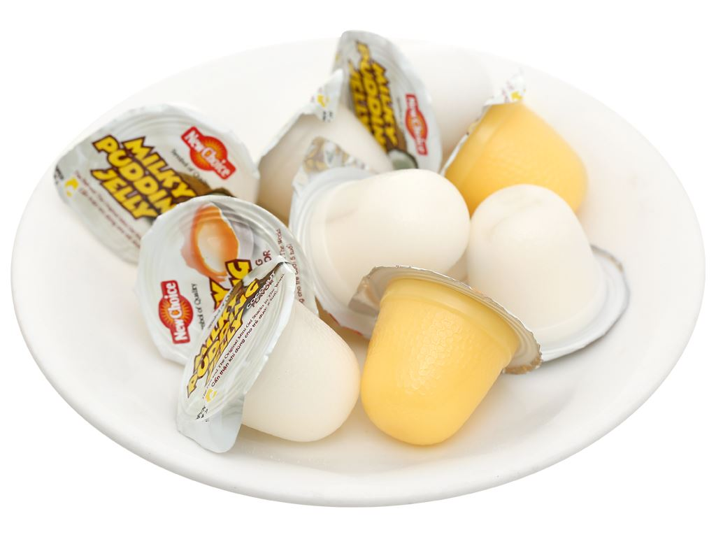 Thạch rau câu pudding hương vị trứng & dừa New Choice gói 240g 6