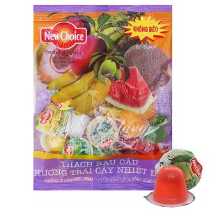 Thạch rau câu hương trái cây nhiệt đới New Choice gói 300g