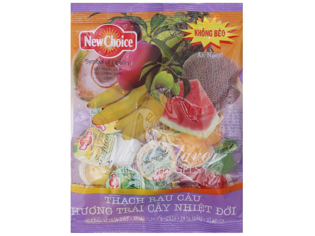 Thạch rau câu hương trái cây nhiệt đới New Choice gói 300g 1