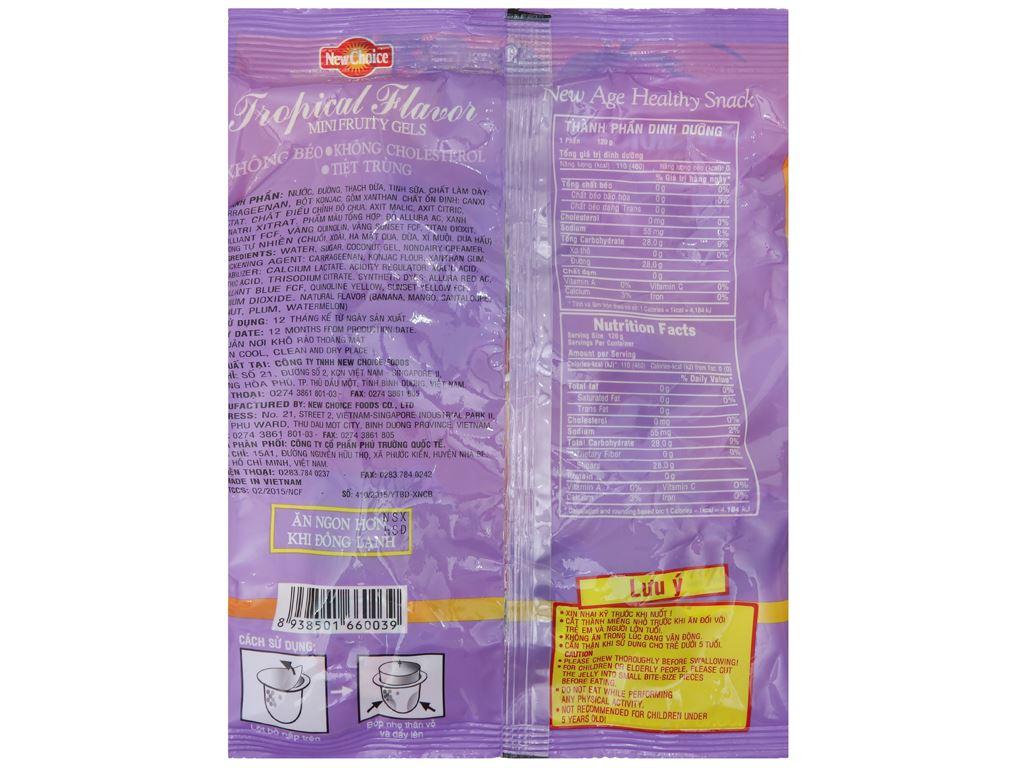 Thạch rau câu hương trái cây nhiệt đới New Choice gói 300g 2