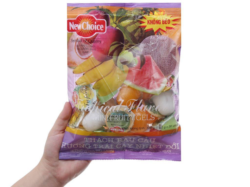Thạch rau câu hương trái cây nhiệt đới New Choice gói 300g 3