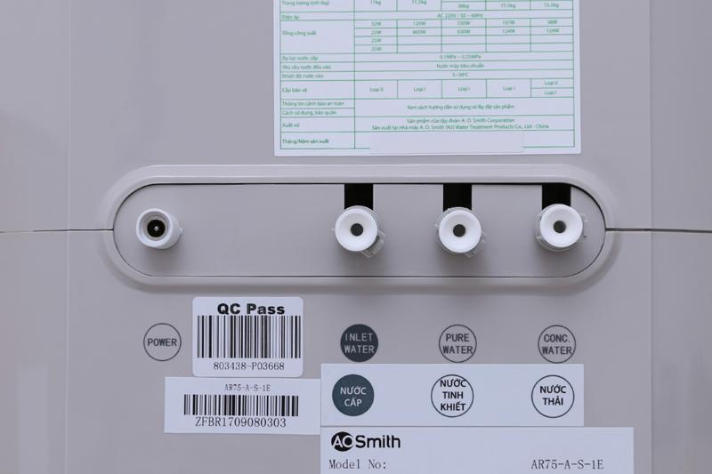 Tiêu chuẩn nước sạch an toàn - Máy lọc nước AOSMITH AR75-A-S-1E