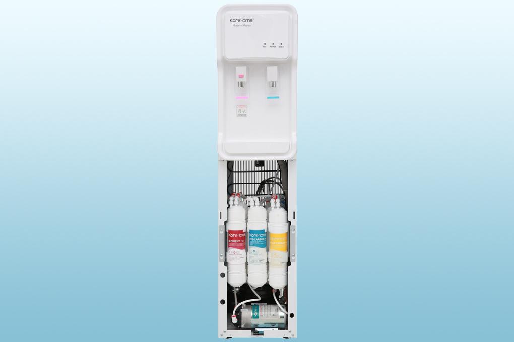 Máy lọc nước RO nóng lạnh Korihome WPK-813 6 lõi - Hệ thống lõi lọc Hàn Quốc đúc nguyên khối vô trùng