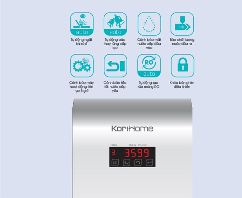 Dùng tiện lợi, an toàn vượt trội - Máy lọc nước Korihome WPK-606 8 lõi