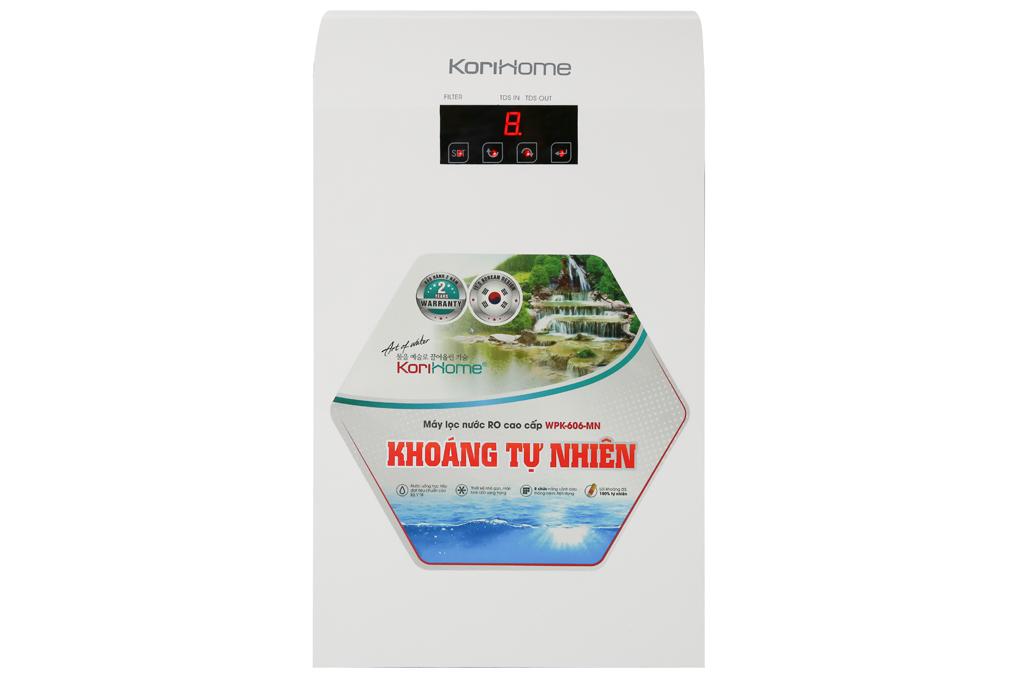 Thiết kế gọn đẹp, màu trắng trang nhã - Máy lọc nước RO Korihome WPK-606-MN 6 lõi