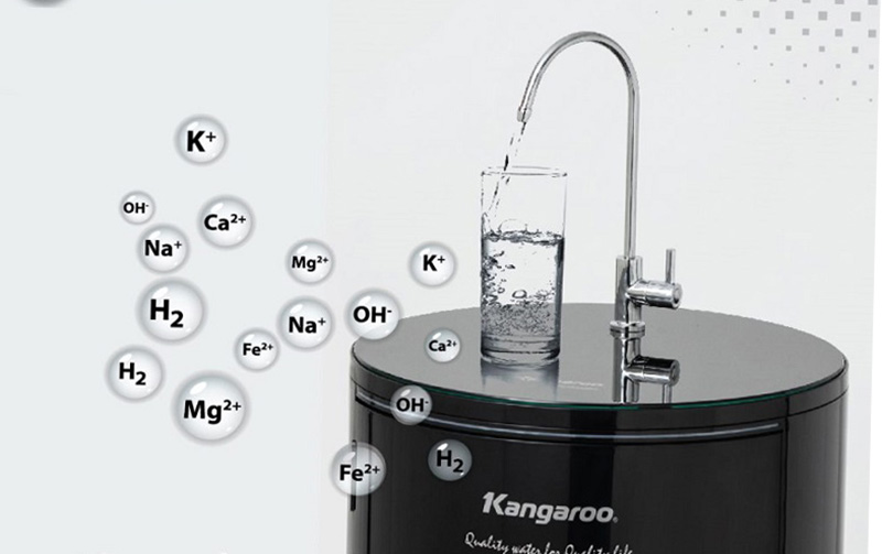 Vòi rót nước làm bằng inox bền bỉ - Máy lọc nước Kangaroo KG100HC 10 lõi