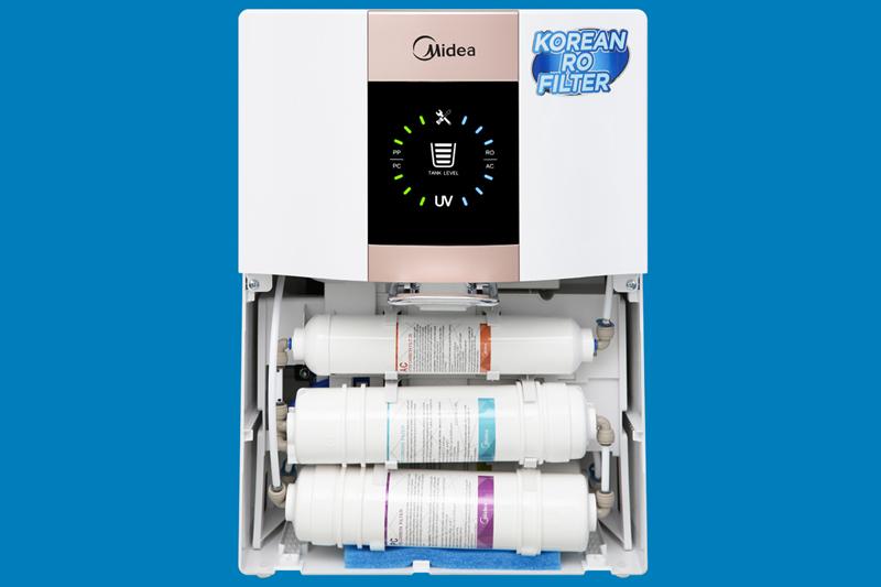 Hệ thống 5 lõi lọc - Máy lọc nước RO Midea JN1648T 5 lõi