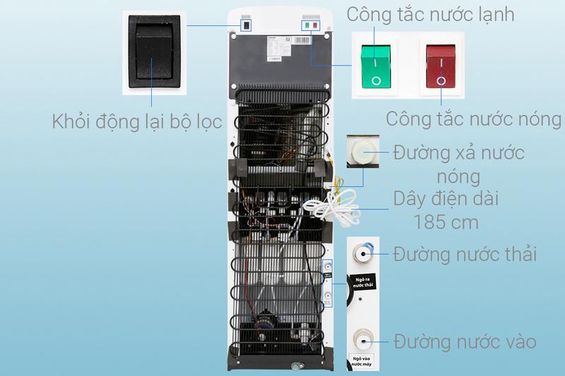 Công tắc nóng lạnh riêng biệt - Máy lọc nước RO Toshiba TWP-W1643SV(W)