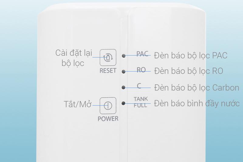 Hệ thống báo thay lõi - Máy lọc nước RO Toshiba TWP-N1686UV(W1)