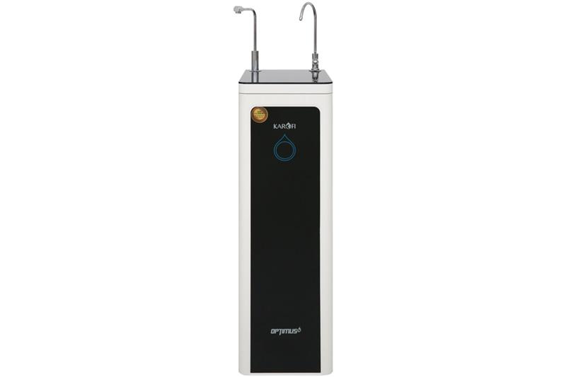 Thiết kế dáng cao, gọn, kết cấu vững chắc - Máy lọc nước nóng RO Karofi O-H128/H 8 lõi