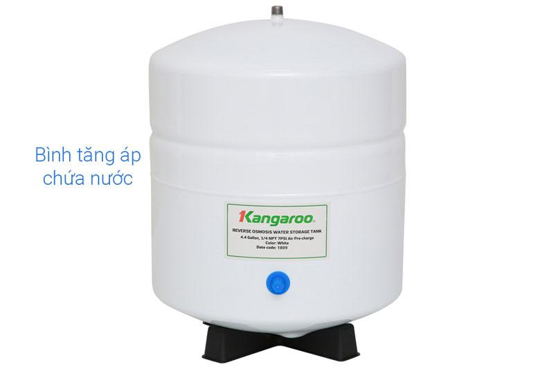 Bình chứa nước dung tích 10 lít, công suất lọc nước đạt 10 - 12 lít/h - Máy lọc nước RO không vỏ Kangaroo KG100HQ 9 lõi