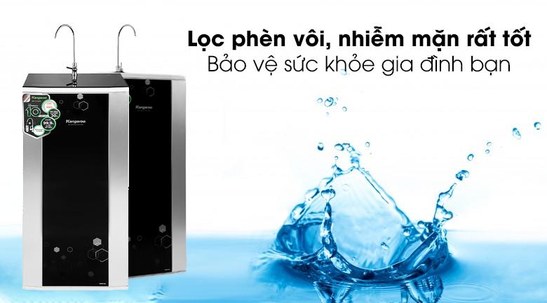 4 cấp lọc thô lọc phèn - Máy lọc nước RO Kangaroo KG3500AVTU 10 lõi