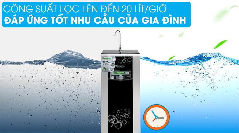 Công suất - Máy lọc nước RO Kangaroo KG10G5VTU 10 lõi