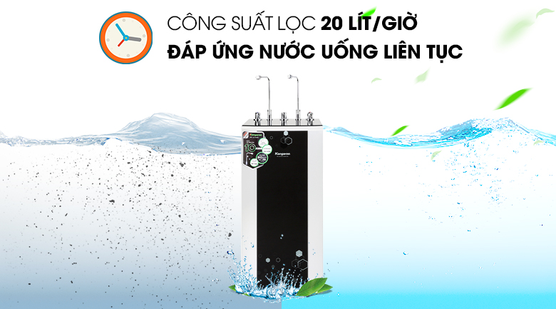Công suất - Máy lọc nước RO nóng lạnh Kangaroo KG10A4VTU 10 lõi