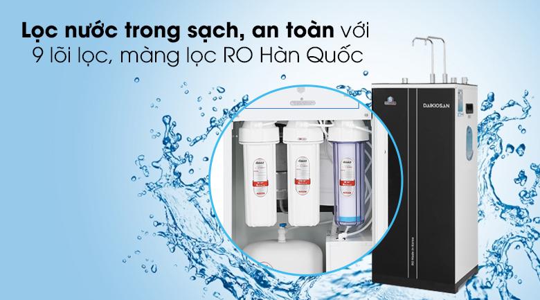 Máy lọc nước RO nóng nguội lạnh Daikiosan DXW-32709H - Hệ thống 9 cấp lọc cho nguồn nước sạch và đầy đủ khoáng chất