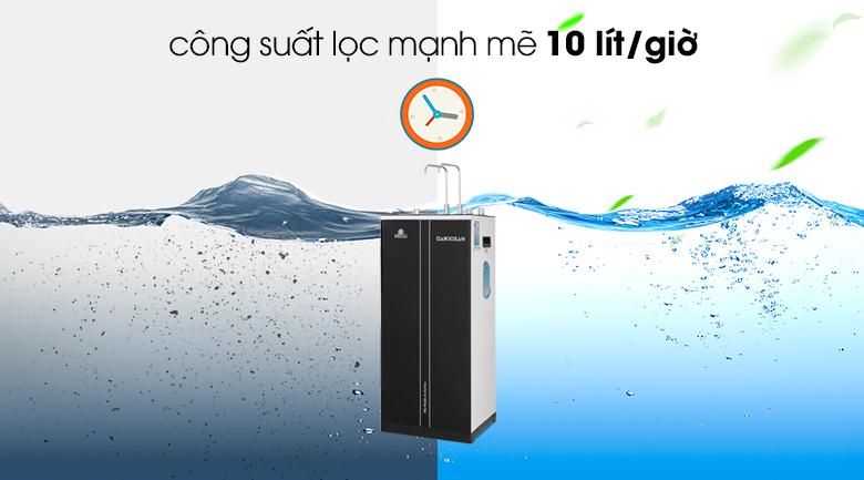 Máy lọc nước RO nóng nguội lạnh Daikiosan DXW-32709H - Khả năng lọc lên đến 10 lít /giờ