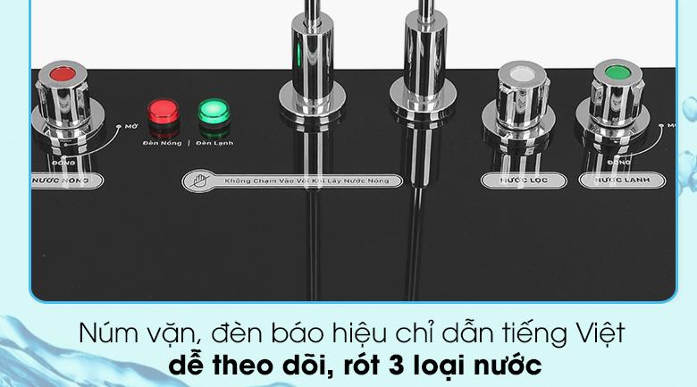 Máy lọc nước RO nóng nguội lạnh Daikiosan DXW-32709H - Điều khiển núm vặn dễ dàng thao tác lấy nước nóng, nước lạnh và nước lọc