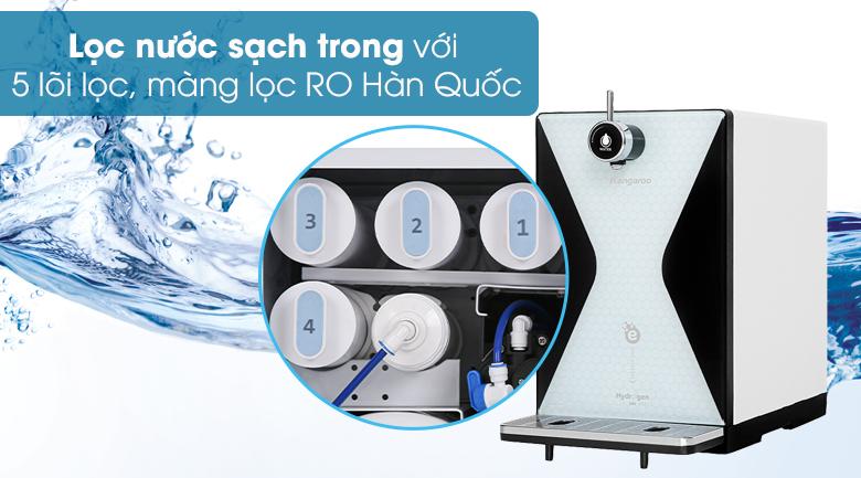 Máy lọc nước RO điện phân Kangaroo KG100MED 5 lõi - Cung cấp nguồn nước trong lành, tinh khiết, giàu Hydrogen ion kiềm