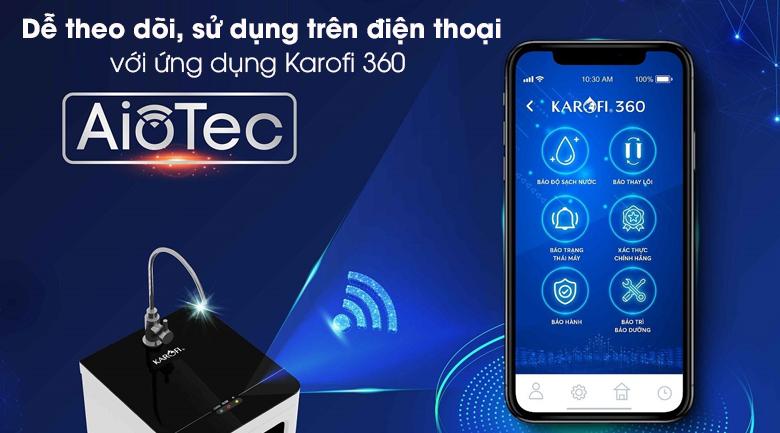 Máy lọc nước RO Karofi Optimus Pro O-i439 9 lõi KG - Ứng dụng công nghệ AIOTEC kết nối máy lọc nước với điện thoại