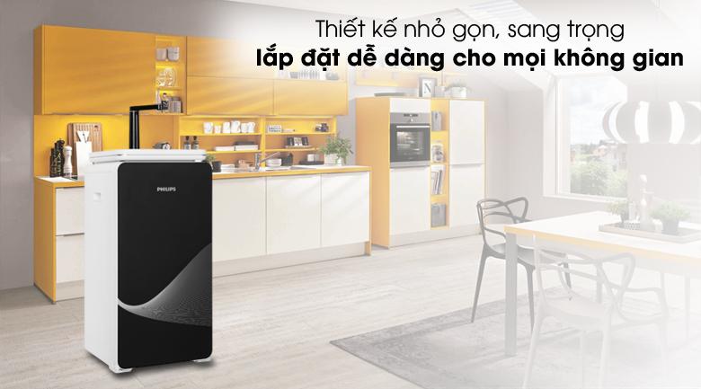Thiết kế đẹp - Máy lọc nước RO nóng lạnh Philips ADD8980 6 lõi (Imei)