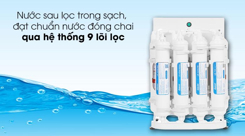Máy lọc nước RO Daikiosan DXW-44009D - Trang bị hệ thống 9 lõi lọc