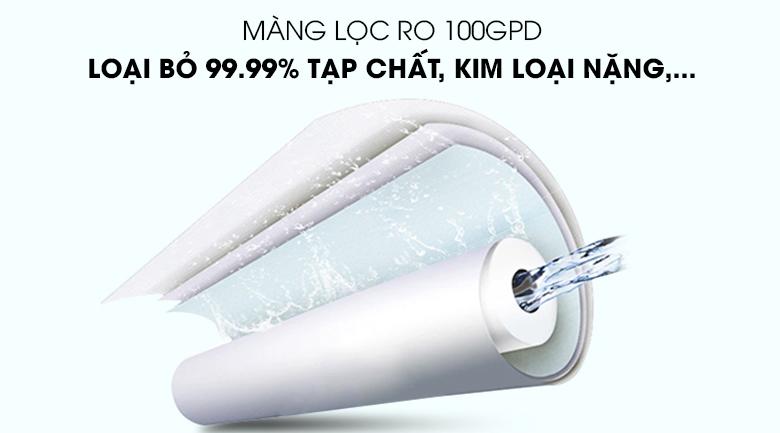 Màng lọc RO 100GDP - Máy lọc nước RO nóng lạnh hydrogen ion kiềm Kangaroo KG10A6S 7 lõi.