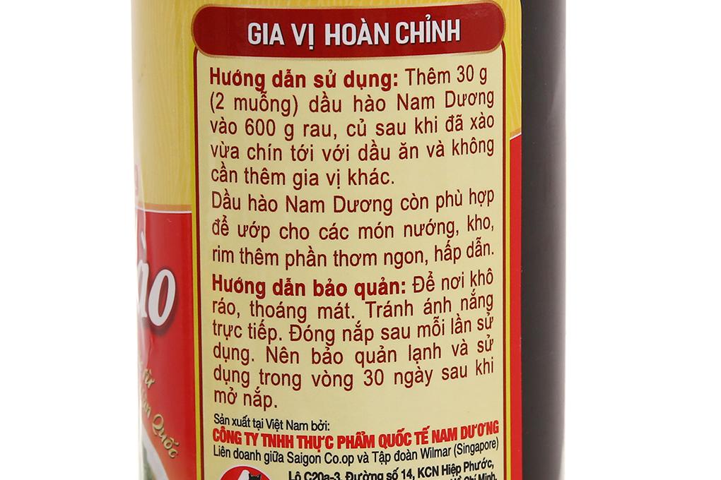 Dầu hào Nam Dương chai 615g 4