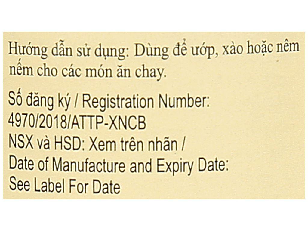 Dầu hào chay Lee Kum Kee chai 255g 5