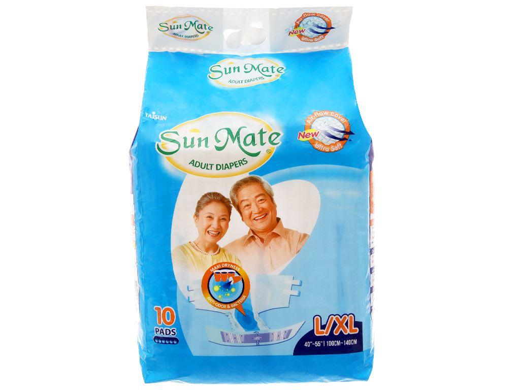 Tã dán Sunmate Size L/XL 10 miếng 1