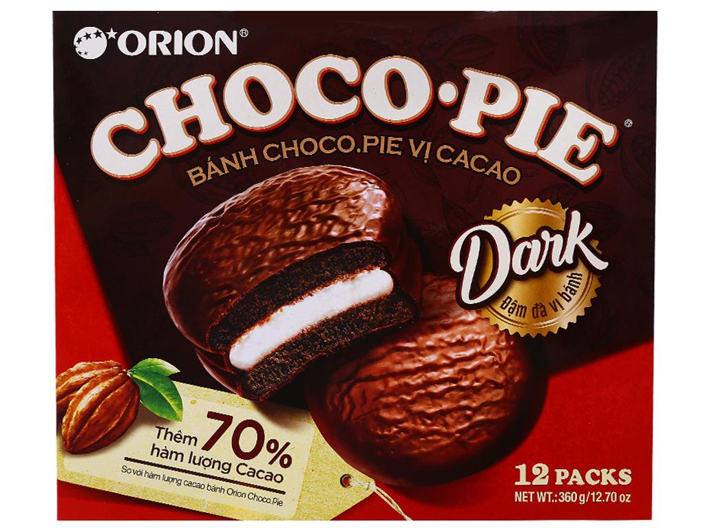 Hộp 12 bánh vị ca cao Choco-Pie Dark 30g 1