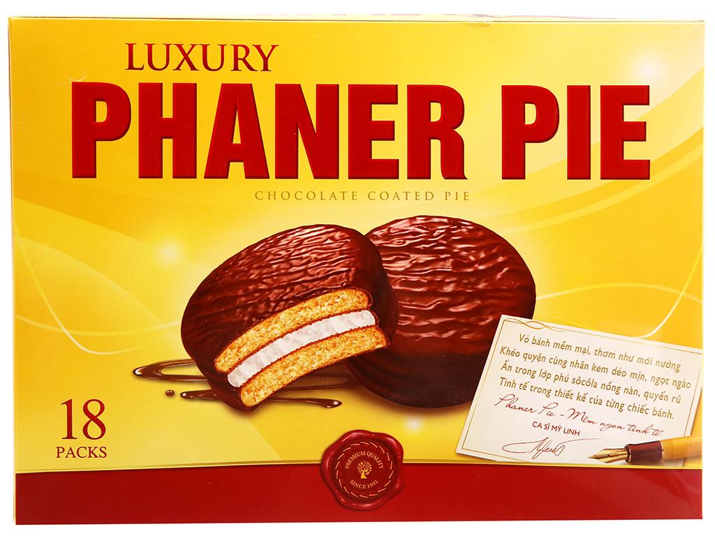 Hộp 18 bánh sô cô la kem marshmallow Phaner Pie Luxury 28g 1