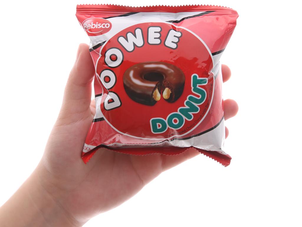 Gói 12 bánh donut phủ sô cô la nhân kem trứng Doowee Donut 30g 3