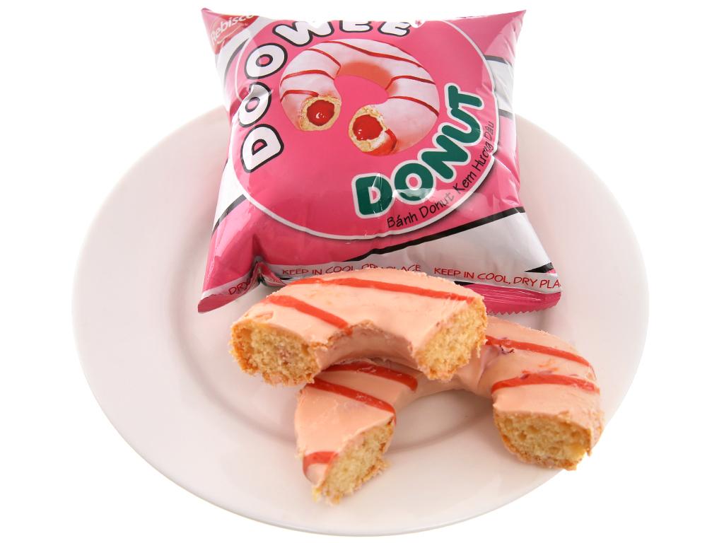 Gói 12 bánh donut kem hương dâu Doowee Donut 30g 4