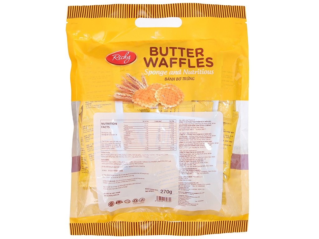 Bánh bơ trứng Richy 270g 1