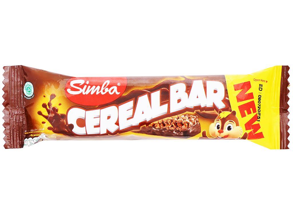 Bánh ngũ cốc Cereal Bar Simba thanh 25g 5