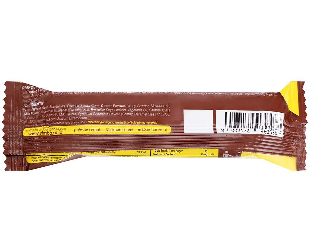 Bánh ngũ cốc Cereal Bar Simba thanh 25g 6