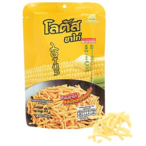 Bánh que vàng vị bắp bơ Dorkbua gói 55g