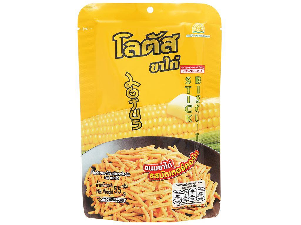 Bánh que vàng vị bắp bơ Dorkbua gói 55g 1