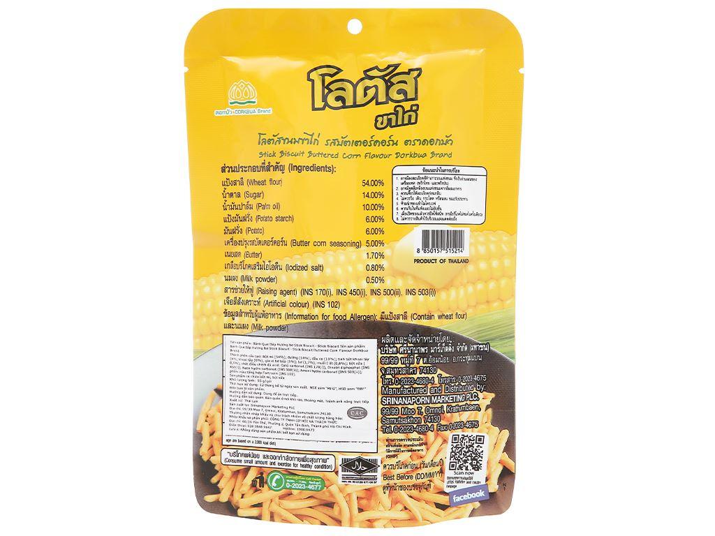Bánh que vàng vị bắp bơ Dorkbua gói 55g 2