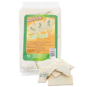 Bánh kẹp ngò nhân bơ đậu phộng Hương Việt Ngon dòn gói 270g