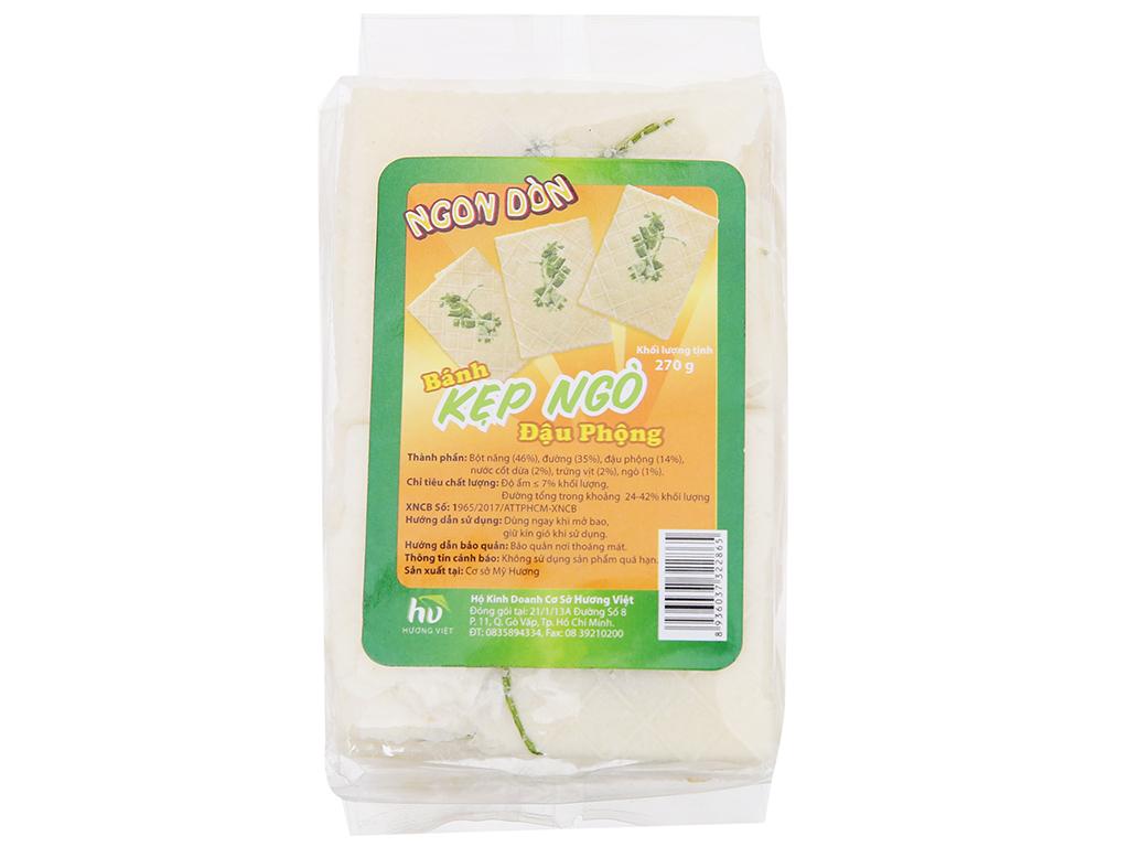 Bánh kẹp ngò nhân bơ đậu phộng Ngon Dòn Hương Việt gói 270g 3