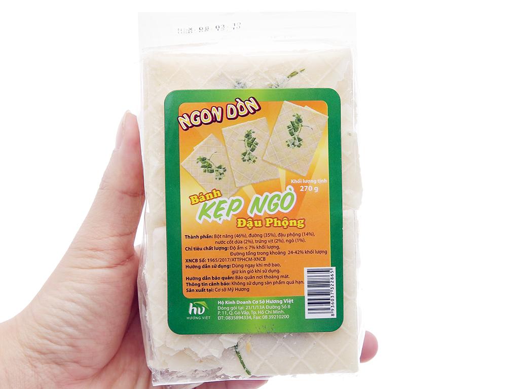 Bánh kẹp ngò nhân bơ đậu phộng Ngon Dòn Hương Việt gói 270g 5