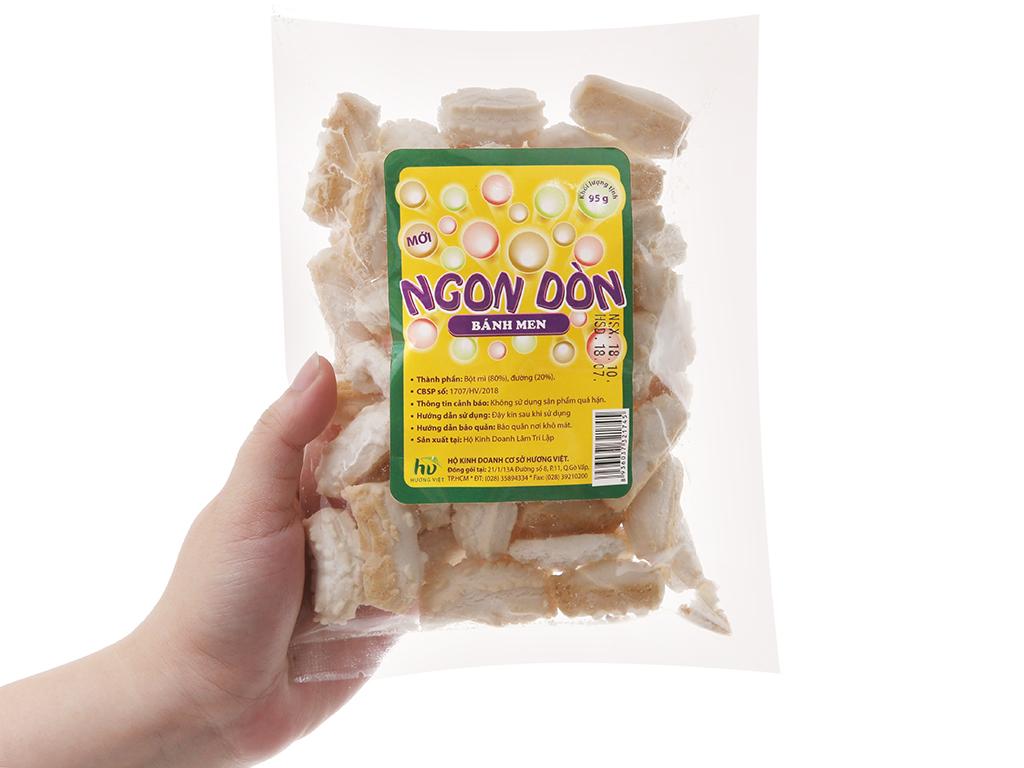 Bánh men gai Hương Việt Ngon dòn gói 95g 3