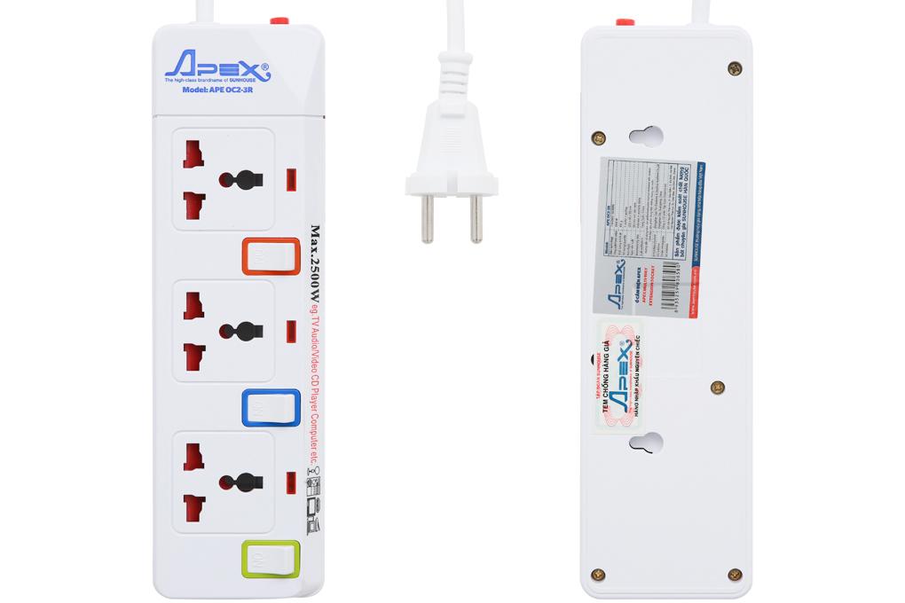 Được làm từ những chất liệu cao cấp - Ổ cắm điện Apex APE OC2-3R