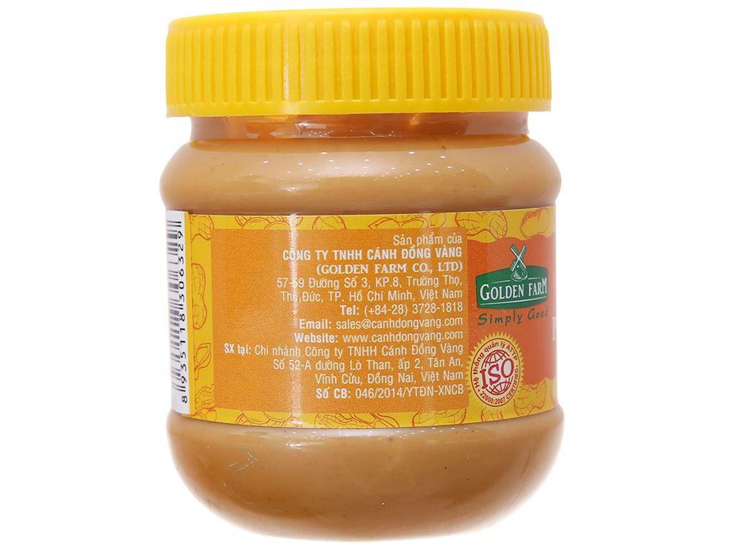 Bơ đậu phộng hạt Golden Farm hũ 170g 2